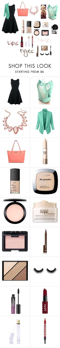 """Strawberry V.S Mint"" by mikreyn ❤ liked on Polyvore featuring Emporio Armani, Thalia Sodi, LE3NO, Chanel, Liz Claiborne, Maybelline, NARS Cosmetics, L'Oréal Paris, MAC Cosmetics and philosophy"