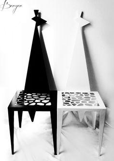 GIRAFFE in Steal & Alluminium  Produced by De Alberti  Designer Elisa Berger