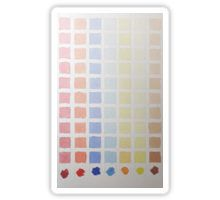 Sticker - Rainbow Rows -  #rainbow #colour #colorrows #watercolour #multicolored #squares #paint #pallet #shapes #tonal #fade #pale #blue #yellow #red #orange #light #shades #lines #block #color
