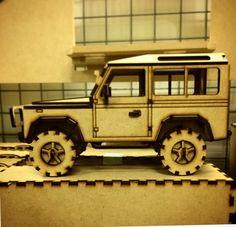 Land Rover Defender X 3D Model  X Laser Cut