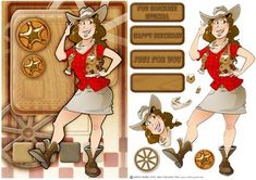 Line Dancer Lady Red on Craftsuprint designed by Gordon Fraser - Take yer Pardners! Easy to make with decoupage, blank and sentiment tiles. More versions of this lady are available. Don't forget to check out my other designs and Dudes! - Now available for download!