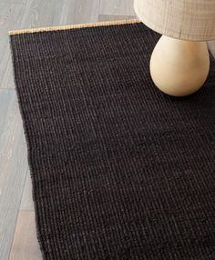 The Nest Weave in hemp with contrasting turnover is available in natural or charcoal.