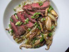 Soy-Marinated Steak with Shiitake Mushrooms and Napa Cabbage by noteatingoutinny: Yummy stir fry! #Beef #Shitake #Napa_Cabbage