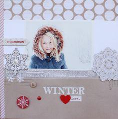 #papercraft #scrapbook #layout    Winter Love - Scrapbook.com