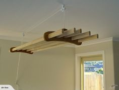 Driline. Oak-Pine Clothes Line Airer (5 Lathe) | Trade Me