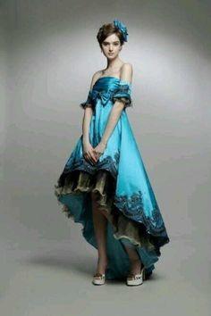 비단 실크 드레스