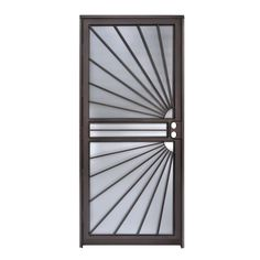 Gatehouse Sunray Black Steel Single Door Security Door (Common: x Actual: x at Lowe's. The Gatehouse Sunray 32 in. x 80 in. Black Prehung Security Door is pre-hinged yet reversible for left or right hinging options. The heavy duty 16 Gauge Steel Gate, Steel Doors, Door Sweep, Window Grill Design, Door Gate Design, Metal Screen, Iron Doors, Safety Glass, Welding