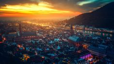 in my opinion one of the best looking cities - Heidelberg Germany 1920x1080