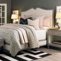 Master Bedroom With White Transitional Bedroom Designs Decorating Ideas . Bedroom Paint Color Trends For 2017 Better Homes Gardens. How To Decorate Your Master Bedroom On A Budget The . Home and Family Trendy Bedroom, Bedroom Sets, Dream Bedroom, Home Bedroom, Bedroom Furniture, Master Bedrooms, Girl Bedrooms, Furniture Plans, Kids Furniture