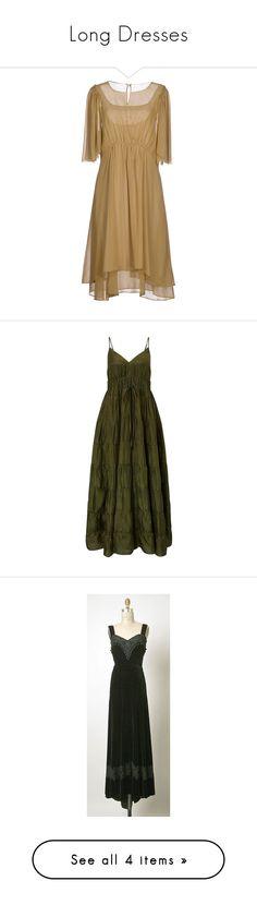 """Long Dresses"" by ruthierue ❤ liked on Polyvore featuring dresses, khaki, pocket dress, brown dress, 3/4 sleeve dress, three quarter length sleeve dress, 3/4 length sleeve dresses, long dress, green dress and ruched maxi dress"