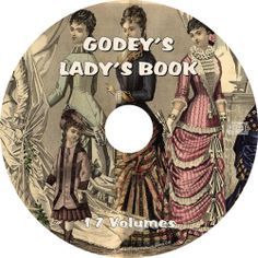 Godey's Magazine & Lady's Book {17 Vintage Fashion Volumes} on DVD