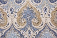 Printed Linen Drapery Fabric | ... Latika by Echo Printed Linen Drapery Fabric in ... | Fabric I
