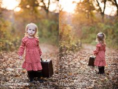Little Suitcase with a little girl, it doesn't get any better!  -Lindsay Horn Photography