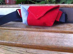 Red and grey felt belt bag by ManaUk on Etsy Red And Grey, Handmade Bags, Felt, Purses, Mini, Etsy, Handbags, Handmade Handbags, Felting