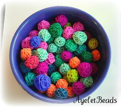 polymer yarn ball beads - what a great idea!