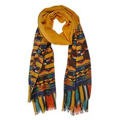 ZLYC Women Boho Tribal Vintage Style Colorful Print Long Wide Scarf Wrap Shawl Deep Yellow ZLYC http://www.amazon.com/dp/B00NG767D8/ref=cm_sw_r_pi_dp_zADjub18AA3MM