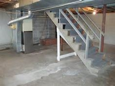 UNFINISHED BASEMENT IDEAS – There are lots of homes which have a built-in basement. However, very few owners actually care about utilizing the space in an efficient way Unfinished Basement Ceiling, Concrete Basement Walls, Low Ceiling Basement, Open Basement, Cozy Basement, Rustic Basement, Cement Walls, Basement Ideas, Walkout Basement