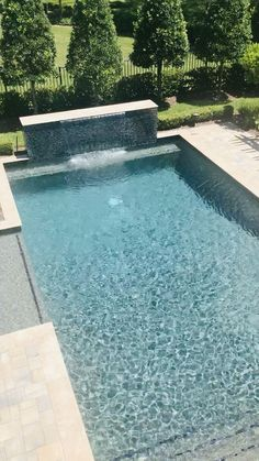 outdoor oasis backyard with pool - outdoor oasis backyard ; outdoor oasis backyard with pool ; outdoor oasis backyard on a budget Small Backyard Pools, Backyard Pool Landscaping, Backyard Pool Designs, Patio Design, Landscaping Ideas, Small Pools, Corner Landscaping, Small Inground Pool, Backyard Plants