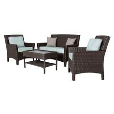 Winn 4-Piece Wicker Patio Conversation Furniture Set.Opens in a new window