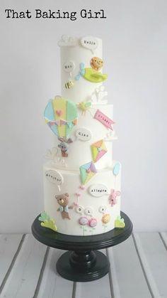 Cute air balloon cake