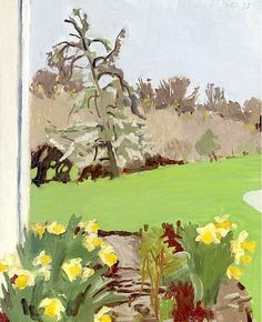 FAIRFIELD PORTER (1907-1975) / Daffodils And Pear Tree