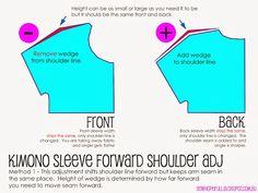 Red Velvet – Forward Sloping Shoulder Adjustment – Sew Hopeful