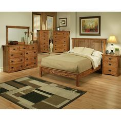 Genial Mission Oak Rake Bedroom Suite   Cal King Size Items Included In This Bedroom  Set: Qty: 1     Mission Oak Rake Bed   Cal King Size Bed Is 8