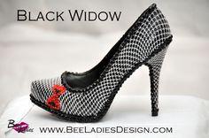 Black Widow Design Heels.