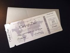 Boarding Pass Save the Date / Invitation. by TheStylishScribe