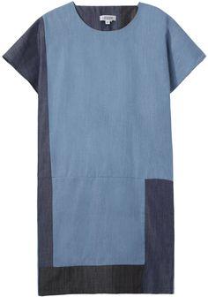 daphine dress. easy simple dress. colorblock