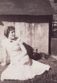 With Tiger ~ circa 1953.