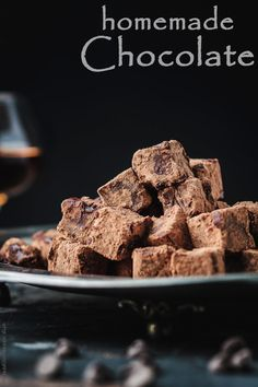 Homemade Chocolate with Champagne and Brandy. These boozed melt-in-your-mouth chocolates are a MUST TRY. The ultimate chocolate experience right at home. Get the step-by-step today at The Mediterranean Dish! http://www.themediterraneandish.com/homemade-chocolate-champagne-brandy/