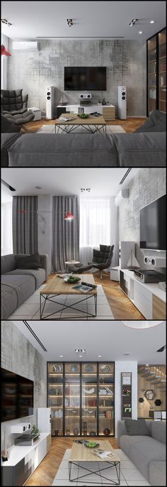98 custom design tv wall tips for the living room 64 Interior Design Kitchen, Modern Interior Design, Interior Design Living Room, Living Room Designs, Diy Bedroom Decor, Living Room Decor, Home Decor, Appartement Design, Home And Living