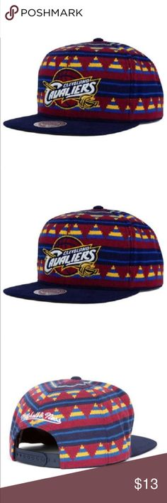 "Cleveland Cavaliers NBA ""Mixtec"" Snapback Hat Cleveland Cavaliers NBA Mitchell & Ness ""Mixtec"" Snapback Hat   Product Details  Cleveland Cavaliers NBA Mitchell & Ness ""Mixtec"" Snapback Hat New Mitchell & Ness Mixtec Hat Flat Bill Adjustable Snapback Size One Size Fits All Mitchell & Ness Other"