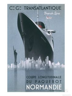 Poster Emphasising the Great Size of the French Transatlantic Liner at le Havre Giclee Print at AllPosters.com