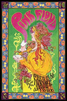 Lithography:Pink Floyd Marquee '66 Print at AllPosters.com
