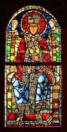 Vitrail représentant Charlemagne dans la cathédrale de Strasbourg
