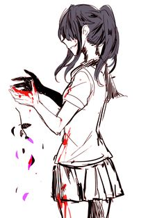 "((Closed RP for @animeelina.)) Oka was behind Ayano, terrified. ""Y-You're a monster..!"" She said, in a panic. Ayano turned around giving her a sharp glare. ""If you tell anyone, you'll end up just like her."" Ayano said, pointing to the dead body beside her.                                                                                                                                                                                 More"
