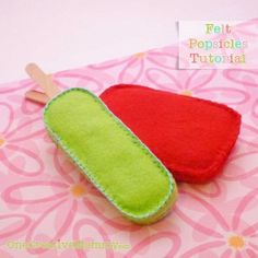 Felt #Popsicle Tutorial by onecreativemommy.com - so cute and easy, little ones love having a play popsicle stand #kids