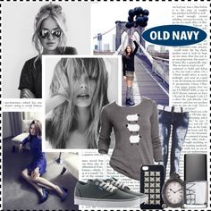 """""""Style That Sweater with Old Navy"""" by abby864 ❤ liked on Polyvore"""