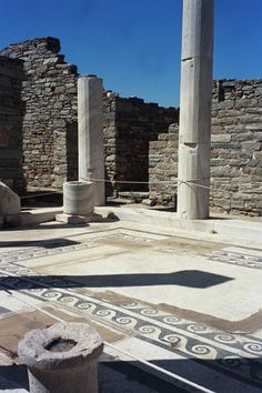 Ancient Greek House, Delos Island, Hellenistic Town
