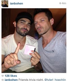 Tyler Hoechlin and Ian Bohen, respectively Derek Hale and uncle Peter. The Ridiculousness runs deep in the Hale family.