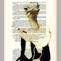 Jetset ostrich  ORIGINAL ARTWORK  Mixed Media Hand by Cocodeparis, $12.00