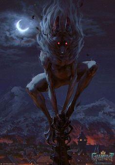 Werewolf Art From Gwent The Witcher Card Game Artwork by Anna Podedworna @ ArtStation
