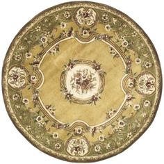 Safavieh Handmade Classic Saveh Light Gold/ Wool Rug