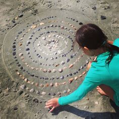 Land Art Mandala with Shells