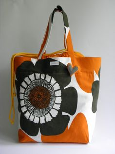 Baguette, Sewing Projects, Sewing Ideas, Marimekko, Handicraft, Weaving, Reusable Tote Bags, Purses, Knitting
