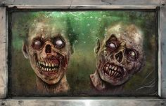 Horror Decor - Floating Zombie Heads Print image from The Walking Dead