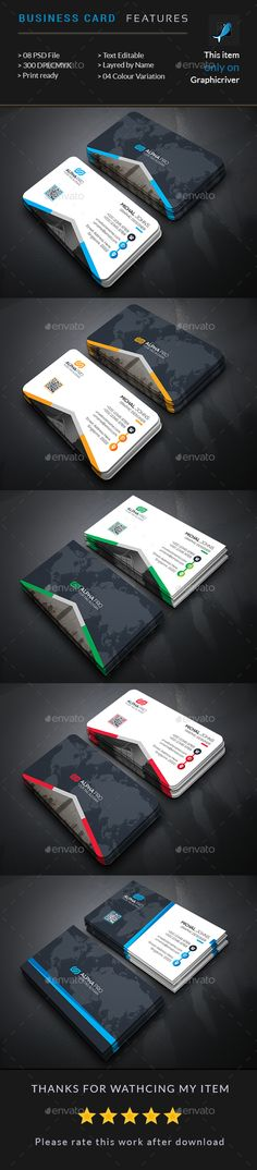 Creative Business Card — Photoshop PSD #graphic #white • Available here → https://graphicriver.net/item/creative-business-card/15595155?ref=pxcr