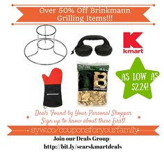 Kmart Retail Deals: Over 50% Off Brinkmann Grilling Items - http://www.couponsforyourfamily.com/kmart-retail-deals-over-50-off-brinkmann-grilling-items/